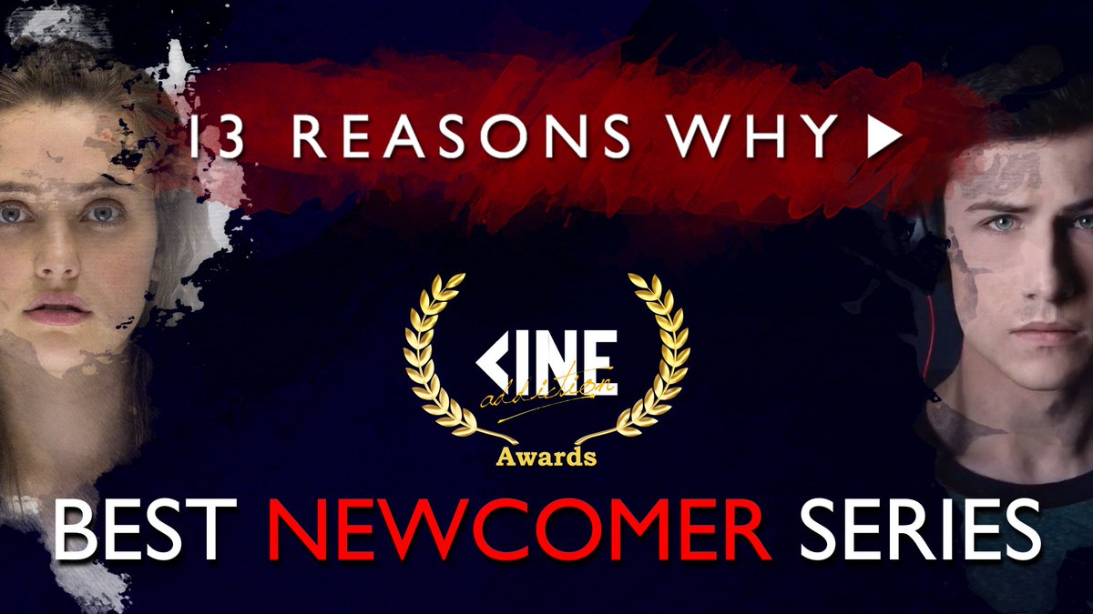 Nominated for the #2017CineAwards for Best Newcomer Series: #13ReasonsWhy!!! <br>http://pic.twitter.com/KBCvxgGbDW