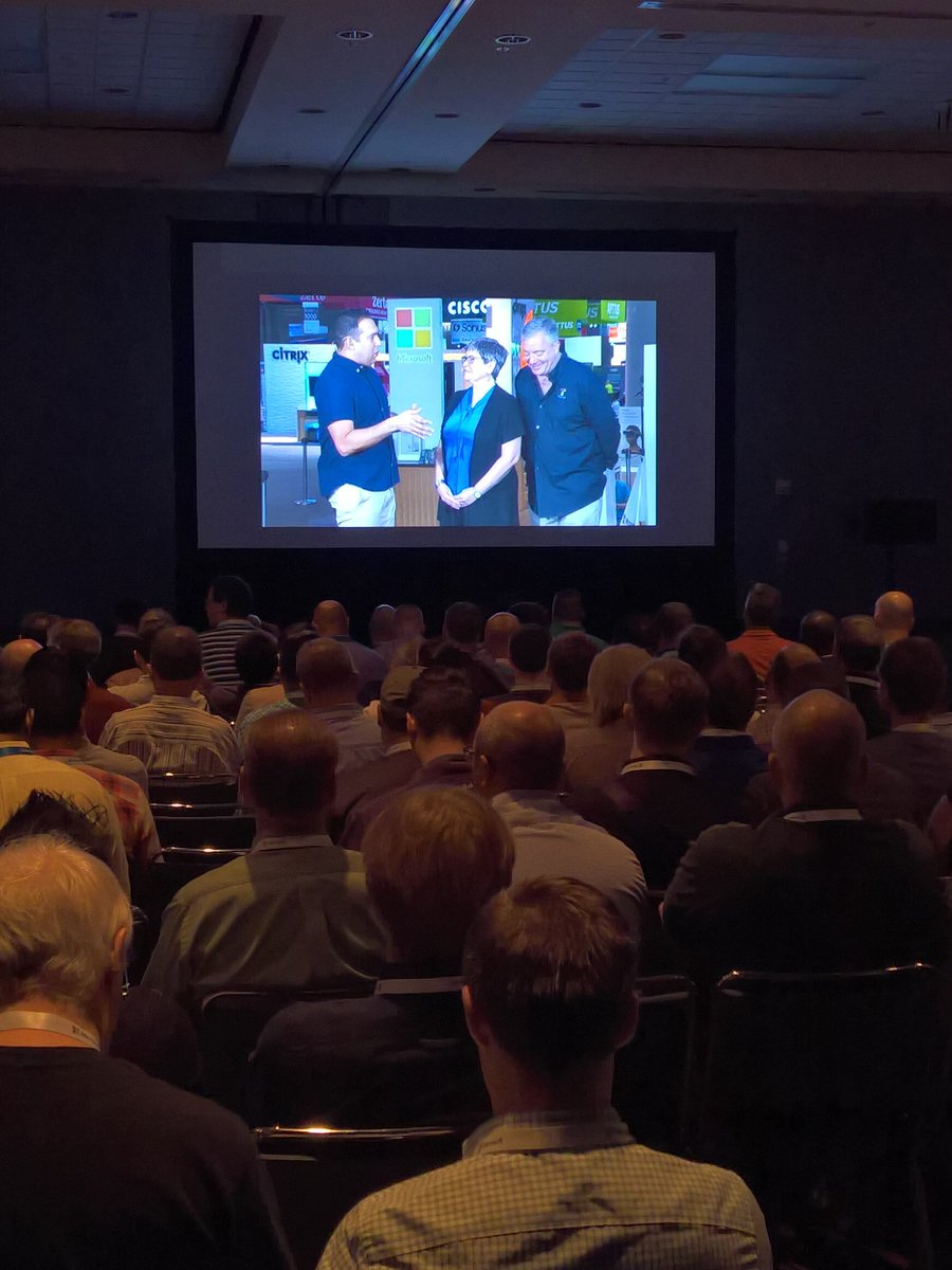 What it looks like being at #msignitelive from the overflow seating... Love listening to @thurrott & @maryjofoley