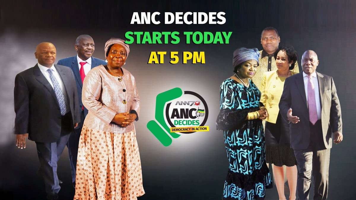 As #ANC gears up for a watershed race catch the inaugural show #ANCDecides @5pm weekdays, repeat 7.30pm.<br>http://pic.twitter.com/D0afhhbm3Q