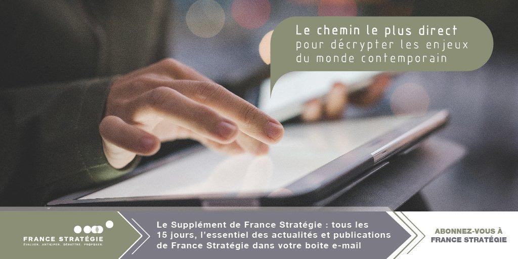 📰 Le Supplément de France Stratégie : l'essentiel des actus et publications. Inscrivez-vous ! 📣 https://t.co/t5FQFoqERS