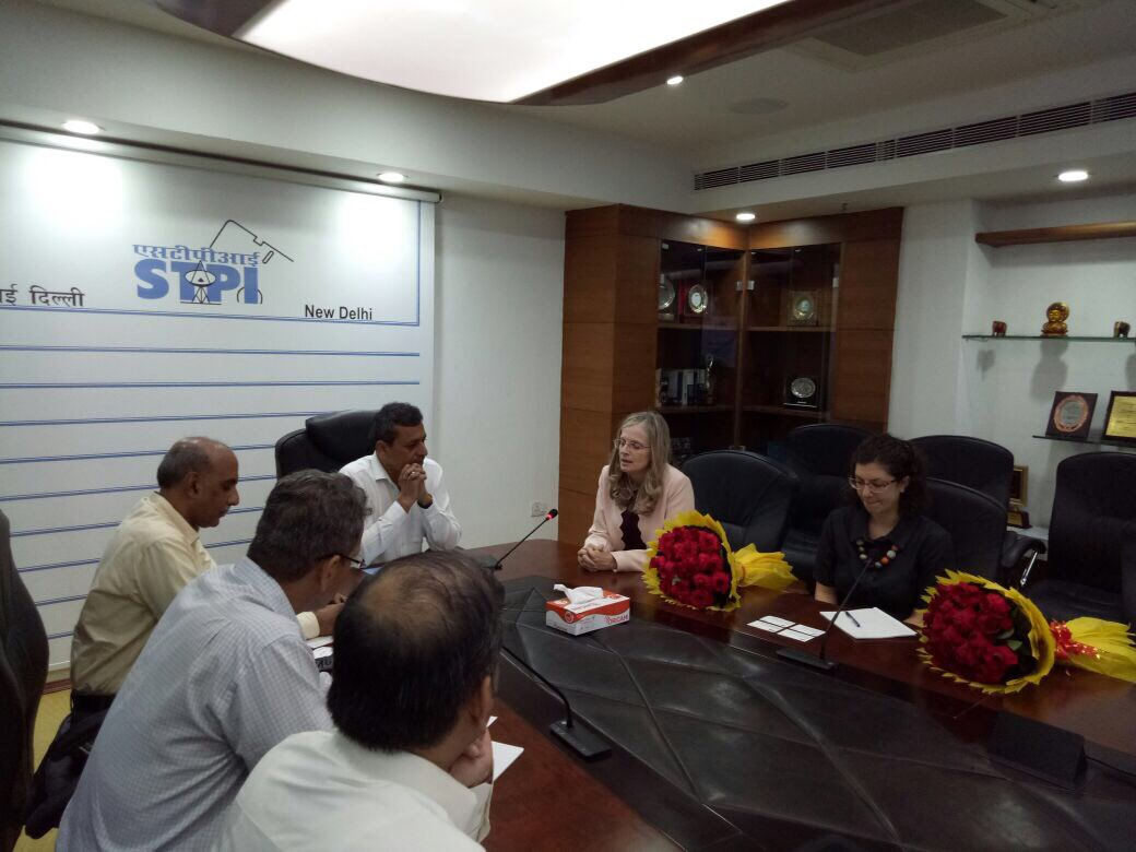 DG STPI @Omkar_Raii hosted #Israel delegates led by Ms @Froim,Minister Public Diplomacy to mutually collaborate in #startups &amp; #innovation<br>http://pic.twitter.com/7yaNrAUgjh