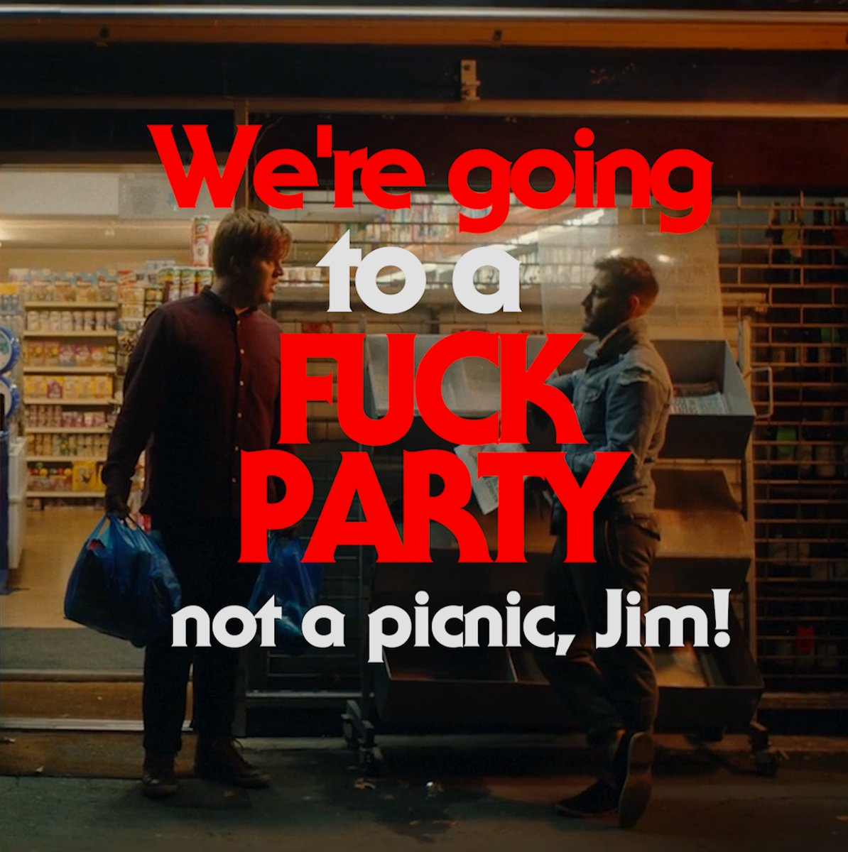 As our Alex would say...&quot;We&#39;re going to a F*** party not a picnic, Jim!&quot; #Film #Horror #Comedy #Movie #DoubleDate In cinema 13th October<br>http://pic.twitter.com/slhejbfhCF