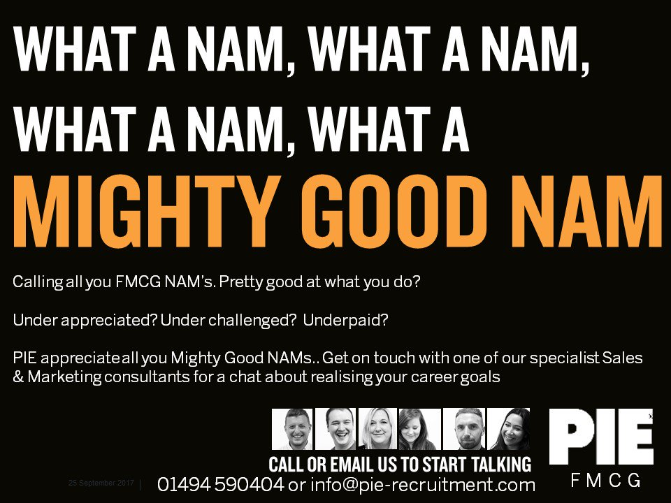 If you&#39;re a Mighty Good NAM, then we&#39;d love to hear from you  Contact the #FMCG Team today &amp; let&#39;s talk about your future 01494 590404 <br>http://pic.twitter.com/KVvLqVID6e