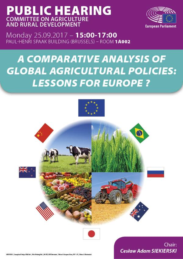 Future of #CAP: @EP_Agriculture to debate w/ experts what EU can learn from #farm policies worldwide. Live shortly:  http://www. europarl.europa.eu/ep-live/en/com mittees/video?event=20170925-1500-COMMITTEE-AGRI &nbsp; … <br>http://pic.twitter.com/gyv8kVAccI