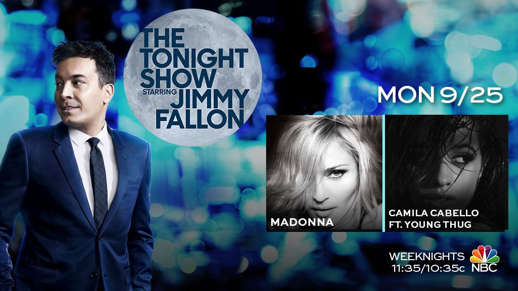 Fun show tonight: @Madonna stops by, @camilacabello97 is here to talk + perform ft.@youngthug , and more!#FallonTonight
