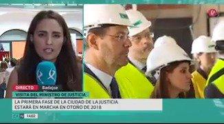 La ciudad de la Justicia de Badajoz empezará a funcionar antes de lo previsto: en otoño de 2018. Lo ha anunciado @RafaCatalaPolo. #EXN https://t.co/K4jqP3BFYL