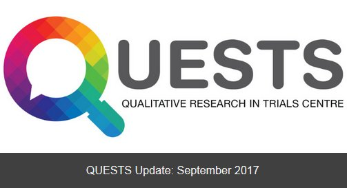 Read about upcoming training &amp; events, latest publications re #qualitative #research in #trials in our Sept Update!  http:// mailchi.mp/5e93bc43af93/q uests-april-update-1145493 &nbsp; … <br>http://pic.twitter.com/1v2BbiFKxV