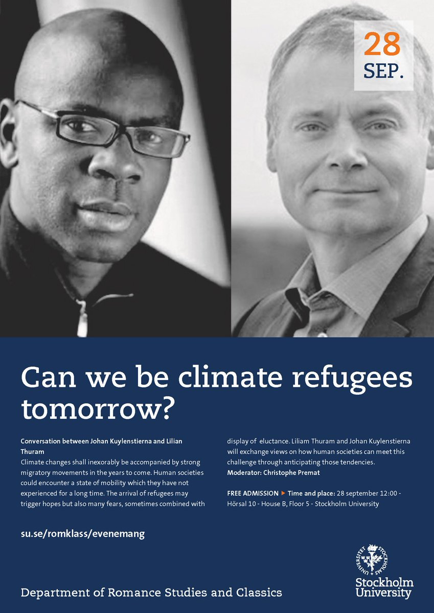 Can we be #climate #refugees tomorrow? -  http:// bit.ly/2yBodDg  &nbsp;    Conversation between @prematc @JKuylenstierna @Stockholm_Uni  - 28 Sept<br>http://pic.twitter.com/xJZm6I9dHY