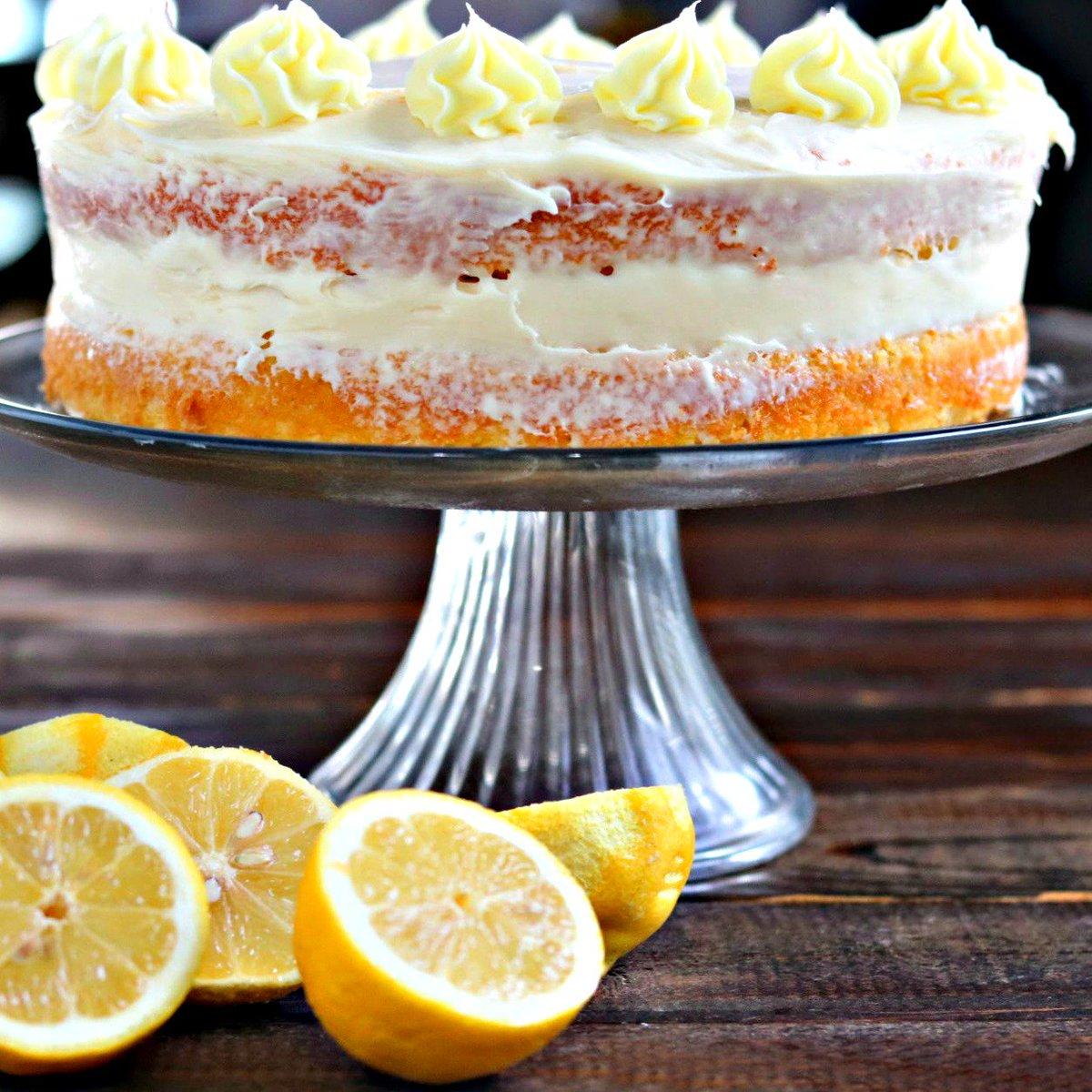 Naked Lemon Sour Cream Cake - so fun! #lemon #cake #recipe #homemade #kyleecooks  http:// bit.ly/2q3jVRh  &nbsp;  <br>http://pic.twitter.com/OcPdz72GeQ