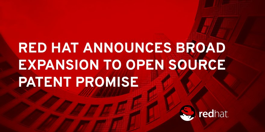 #RedHat announces a significant revision of its Patent Promise, helping to protect #opensource innovation.  http:// red.ht/2yua1w2  &nbsp;  <br>http://pic.twitter.com/kyM1My3ptt