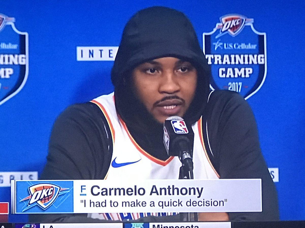 The hoodie should be an official part of Melo's uni at this point http...