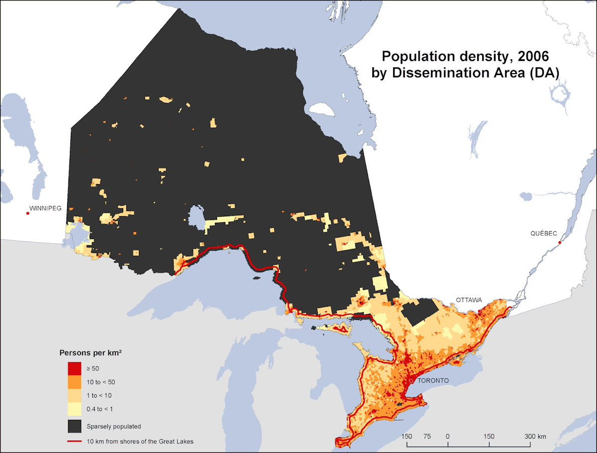 Map Of Canada Population Density.Onlmaps On Twitter Ontario Canada Population Density Map 2006