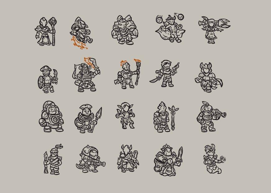 Eternal, aspiring gods looking for ascencion, for my 4x project. #gameart #gamedev #gamedesign #digitalart #illustration #conceptart<br>http://pic.twitter.com/OatjPeLun1