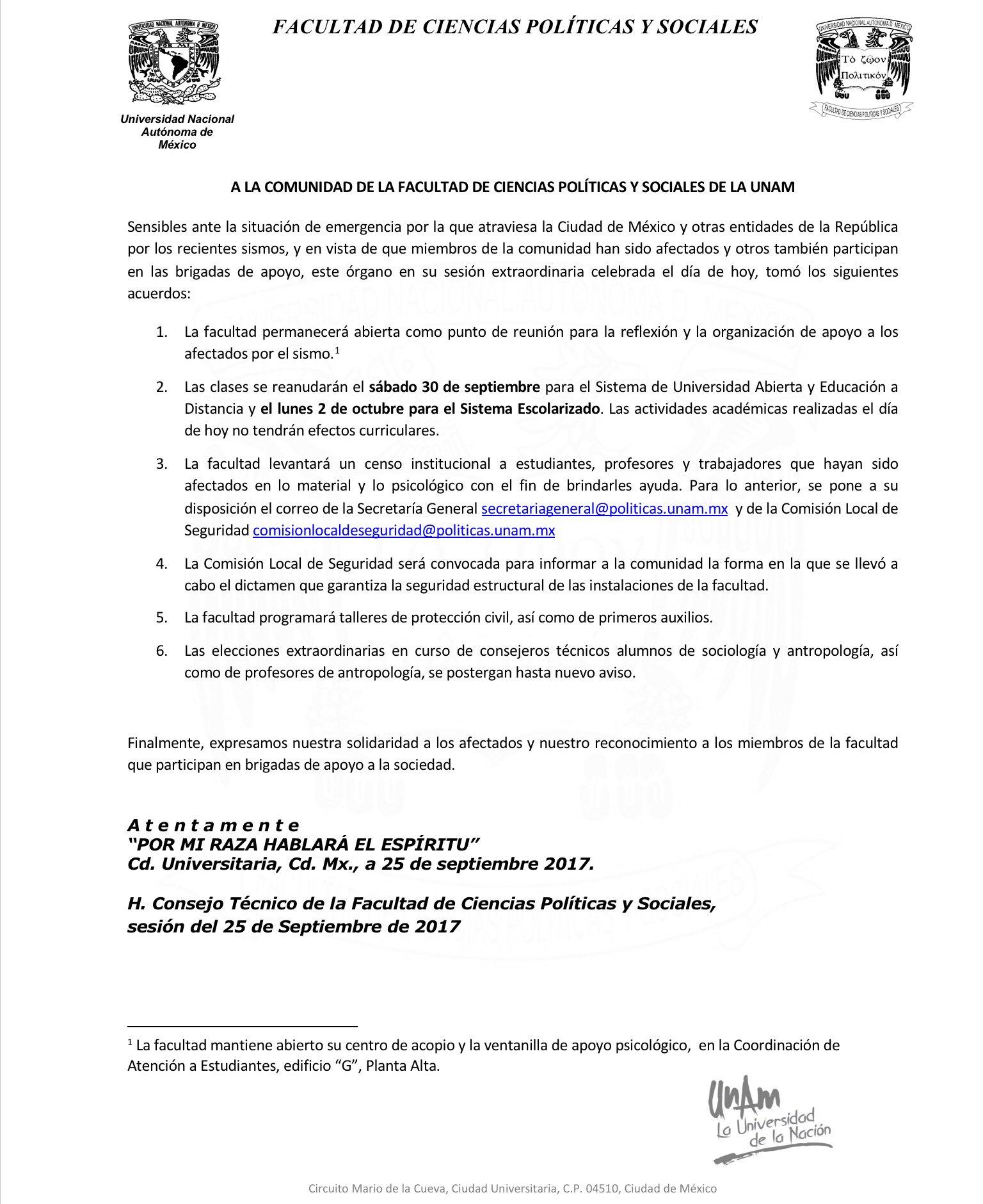 FCPyS-UNAM on Twitter: \