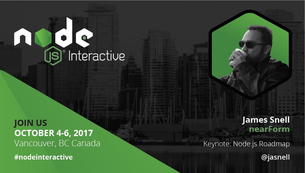 What does the future of #nodejs look like? @jasnell to discuss during his keynote at #NodeInteractive.<br>http://pic.twitter.com/AwFte4orAl