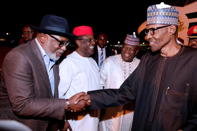 President Buhari has arrived Nigeria after a brief stop-over in London.