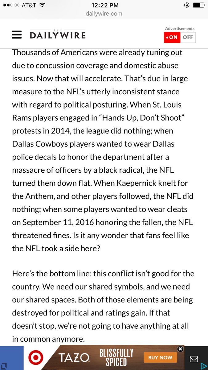 This part of @benshapiro's piece on the NFL drama is the most accurate/best part. https://t.co/Q4J1phnyCy