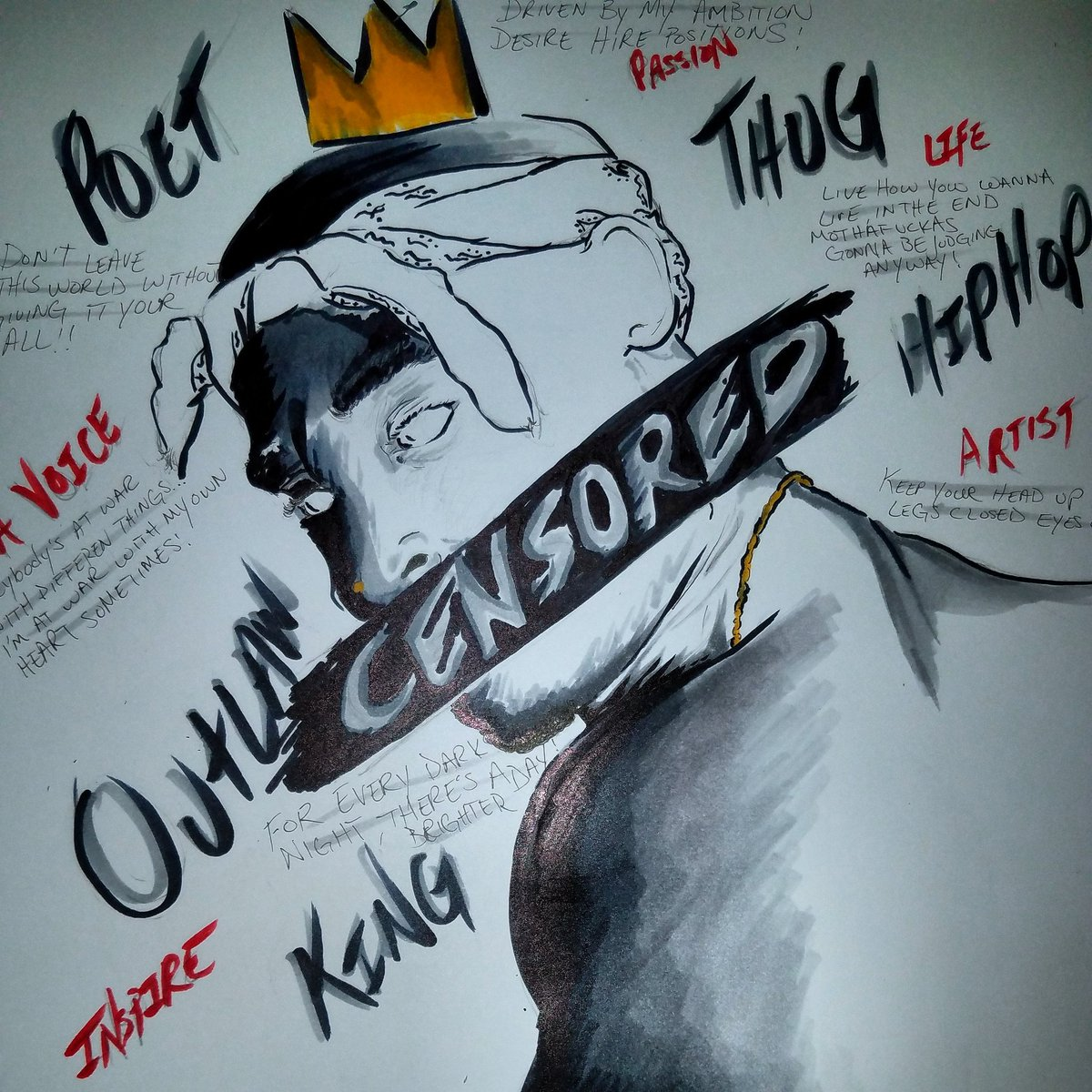 Use Your IMAGINATION || UNTITLED #CENSORED #MotivationMonday #TupacShakur #StriveForGreatness #jleeart #artisttwitter #MusicMonday<br>http://pic.twitter.com/Fh8IZGetmi