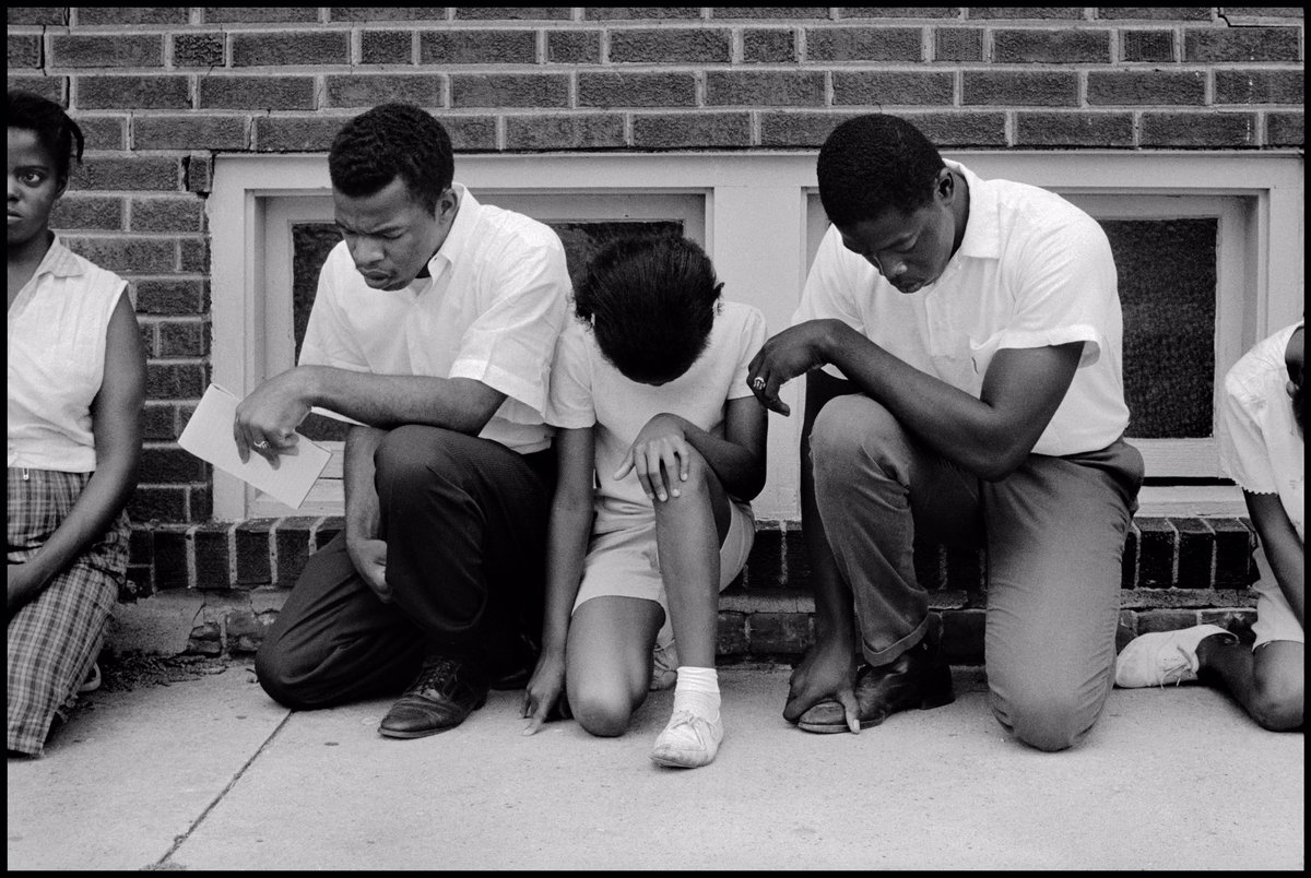 Image result for john lewis mlk kneeling in prayer