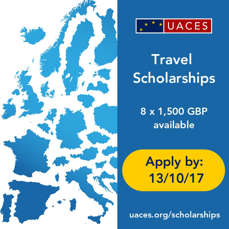 Do you need to do fieldwork as part of your #postgrad research on #EU / #Europe?  Apply to be a @UACES Scholar:  http://www. uaces.org/funding/schola rships/ &nbsp; … <br>http://pic.twitter.com/jPz2WhLOQj