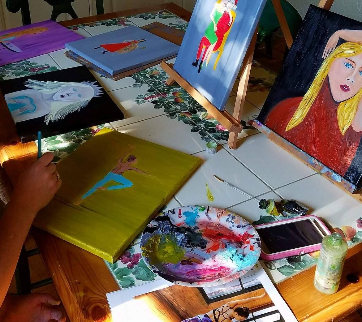 #MondayMotivation take time to be you...I am an #artist  #artisttwitter #oilpainting #JcvCreates  #illustration for #license <br>http://pic.twitter.com/33wFtsnuZF