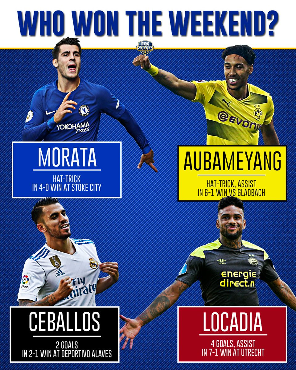 Aubameyang and Morata were on fire, but could anyone top the mammoth p...