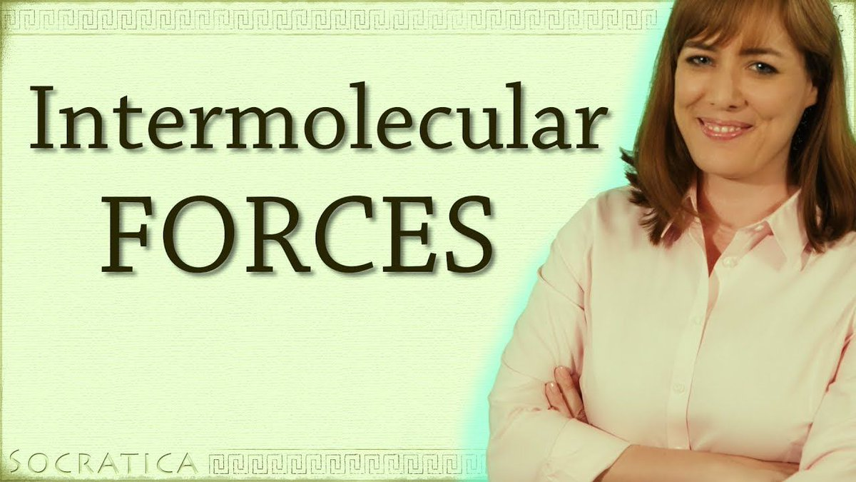 New helpful video for #chemistry #students INTERMOLECULAR FORCES  http:// bit.ly/2xAnoMt  &nbsp;   van der Waals Interactions explained #STEM #scicomm <br>http://pic.twitter.com/OCWg2f6ATC