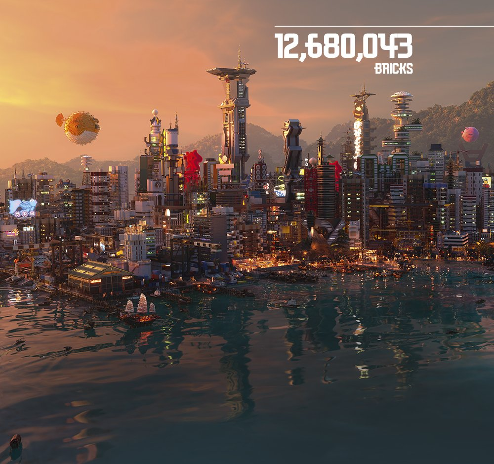 Lego On Twitter How Many Bricks Were Used To Make Ninjago City For