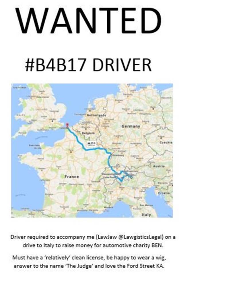 Amazing New #Automotive #Vacancy! #Driver required for #Lawgistics #B4B17 click the link for more details...  https://www. justgiving.com/fundraising/la wgisticsuk &nbsp; …  @PPJimi<br>http://pic.twitter.com/pkEVw0ZCn6