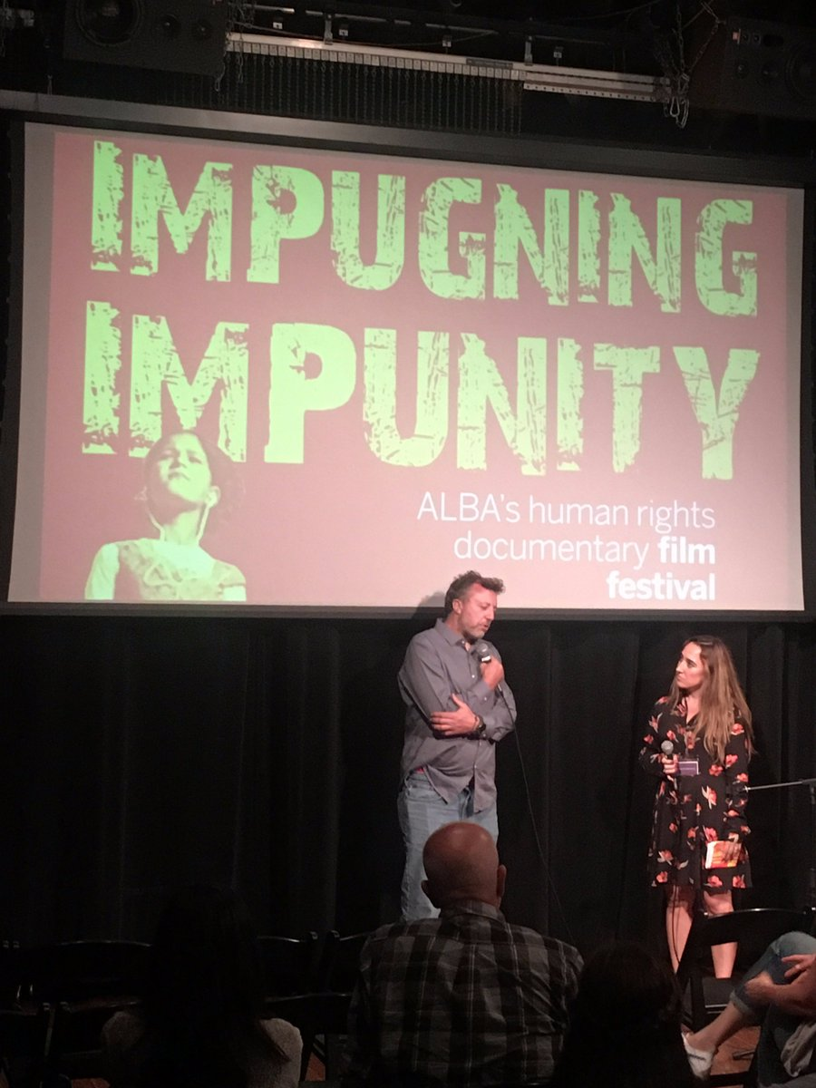 Q&amp;A w/ @nickquested @HOEdocumentary by @sebastianjunger &amp; @nickquested @ Impugning Impunity Alba FF last Friday #Syria #Refugees #Awareness<br>http://pic.twitter.com/3lkLawbZwQ