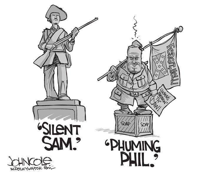#SilentSam and &#39;Phuming Phil&#39; | NC Policy Watch  http:// ow.ly/cBJU30fpoZ3  &nbsp;    #ncga #ncpol #ncgov #Confederate #UNC<br>http://pic.twitter.com/iU5U25bcx8