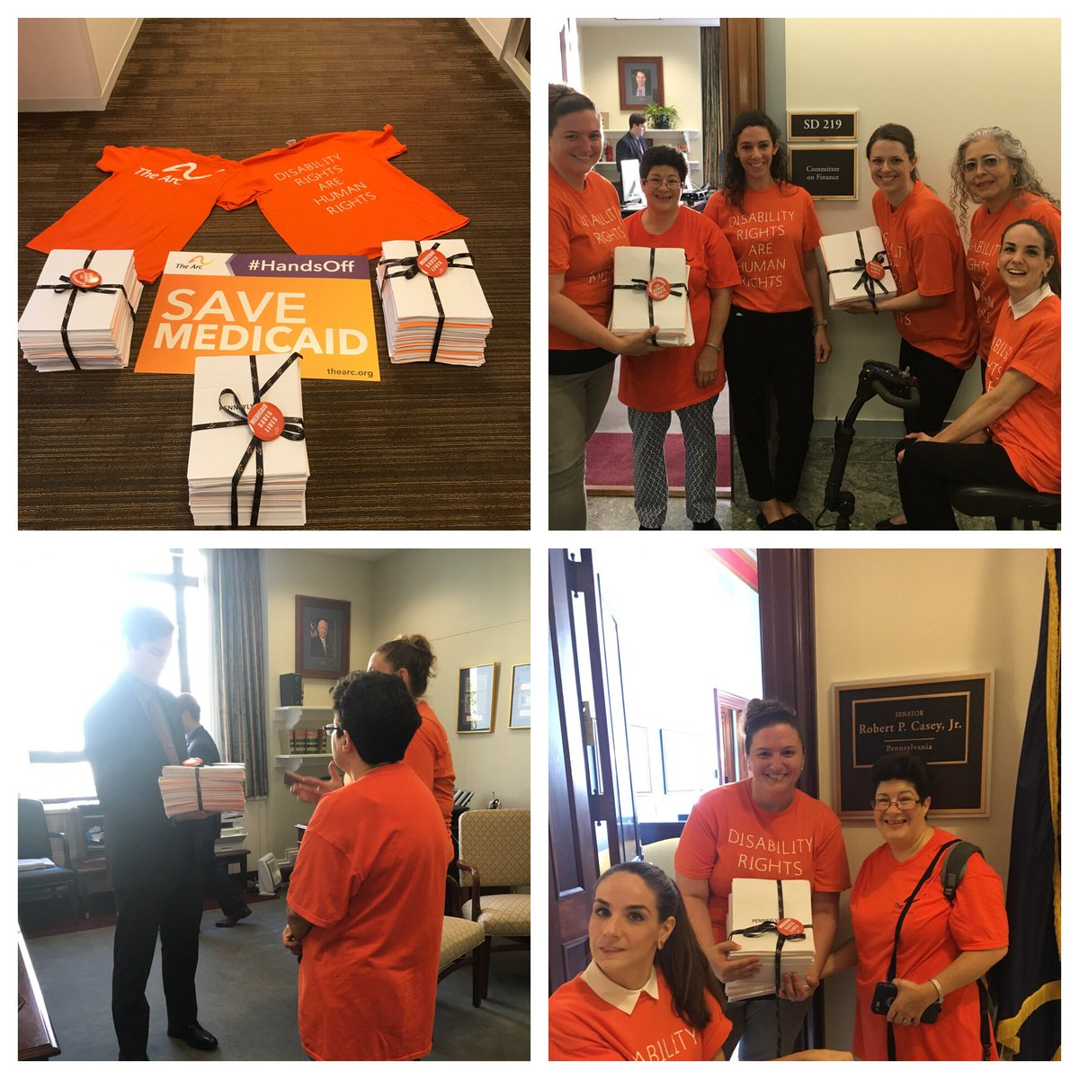 We dropped off hundreds of letters sharing why #Medicaid is important &amp; #GrahamCasiddy is dangerous for #PwD @GOPFinance #HandsOff #Medicaid<br>http://pic.twitter.com/UeBfmmIc5S