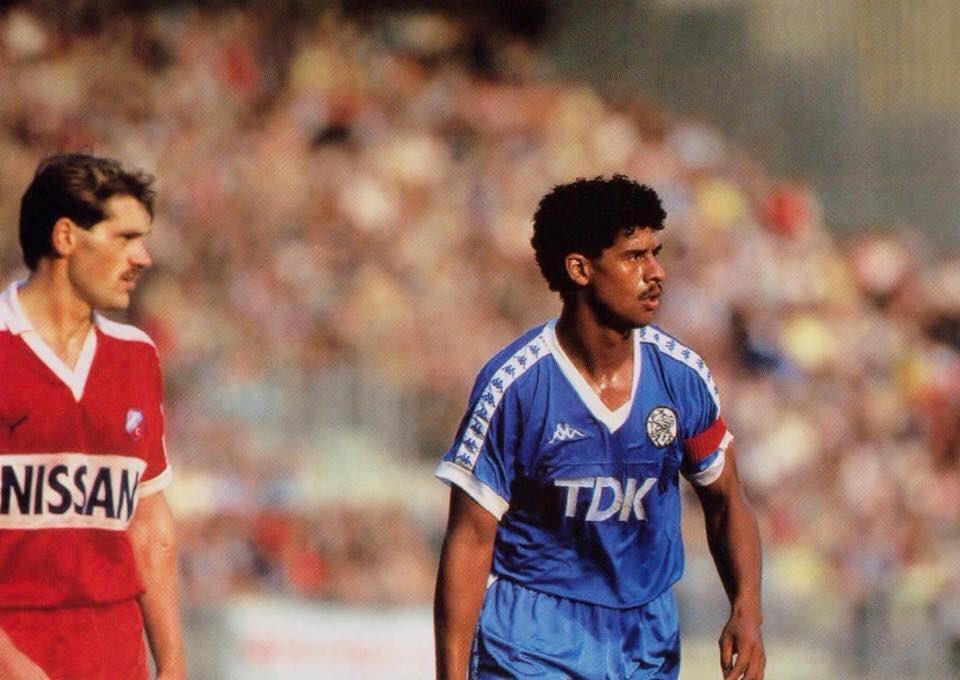 #JanWouters and #FrankRijkaard during #FCUtrecht v #Ajax (0-4) in 1986; #utraja<br>http://pic.twitter.com/ijPp7vTqa8