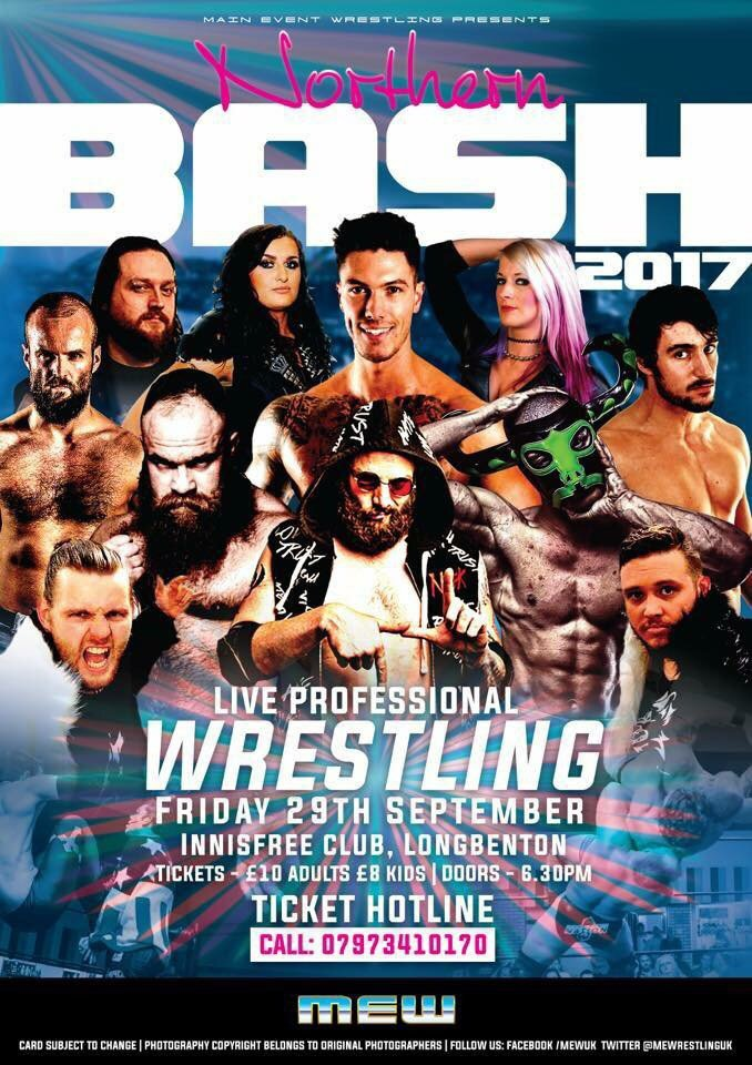 """#Announcement: MEW (@MEWrestlingUK) """"Northern Bash 2017"""" *Four Title Matches &amp; More*  https:// hashtagwrest.wordpress.com/2017/09/25/ann ouncement-mew-mewrestlinguk-northern-bash-2017-four-title-matches-more/ &nbsp; … <br>http://pic.twitter.com/P72RwYl1Ra"""