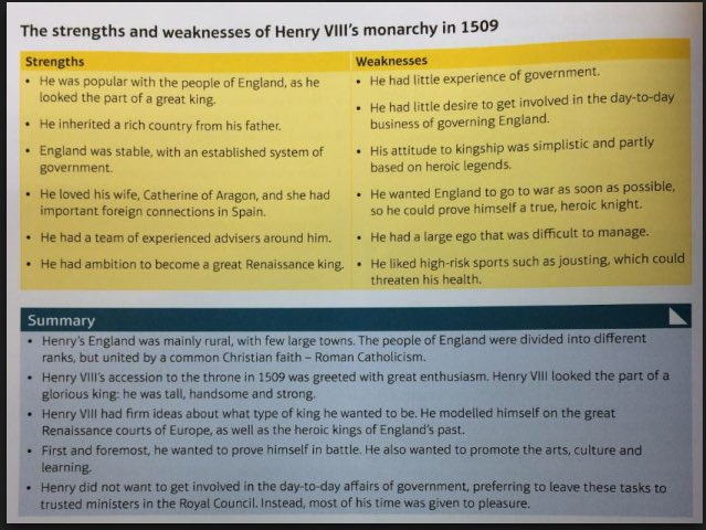 Y8 &amp; the Tudors; introducing subject knowledge elements from the Edexcel GCSE course on Henry VIII. #history <br>http://pic.twitter.com/SLCoXlhZQs