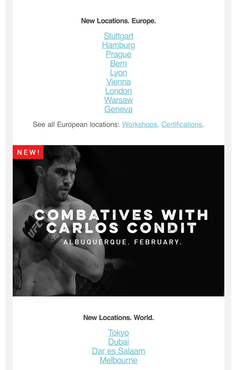 New locations in Europe and the rest of the world + a MovNat Combatives workshop taught by the Natural Born Killer @CarlosCondit himself!