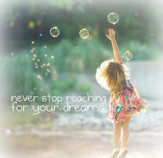 &quot;Never stop reaching for your dreams&quot; #believe #PositiveVibes  <br>http://pic.twitter.com/YBbTsDGqwg