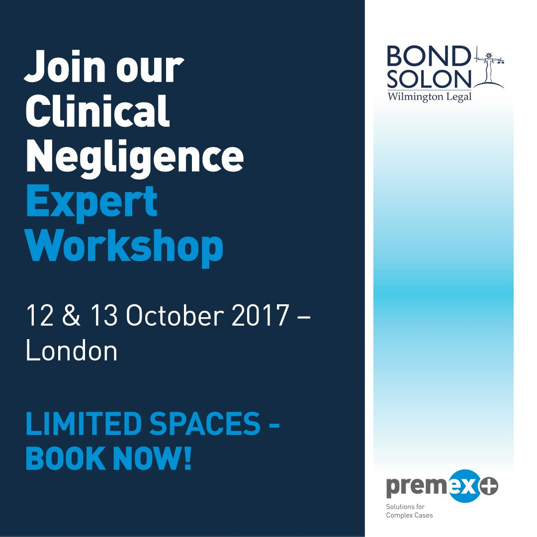 #ClinicalNegligence #MedicalExpertWitness Training with @BondSolon  http://www. premexplus.co.uk/expert-panel/s pecialist-expert-workshop/ &nbsp; … <br>http://pic.twitter.com/qy2df3vZFV