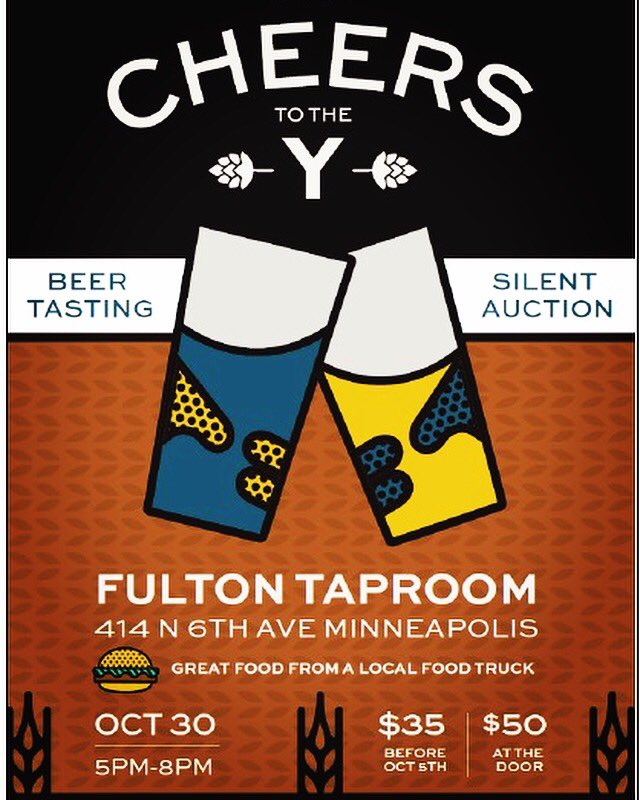 Who&#39;s coming to @fultonbeer #taproom with us on October 30th!? #fundraiser #mpls #beer #foodtruck #fulton #mplsdowntown #ymca #yForAll<br>http://pic.twitter.com/CuEuthZPJl