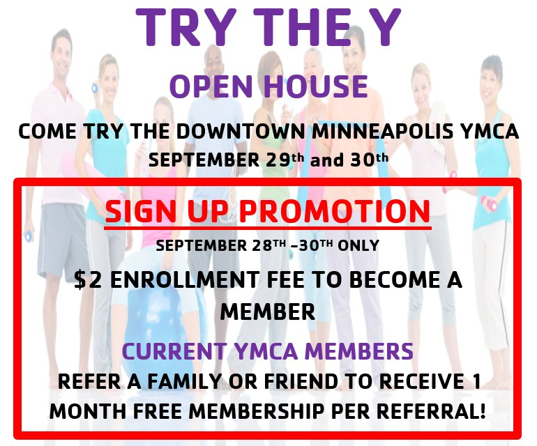 When the #YMCA opens its doors to the whole community &amp; offers #HUGE #Deals #openhouse #mpls #fitness #wellness #motivationmonday<br>http://pic.twitter.com/HbKW7kcdWK