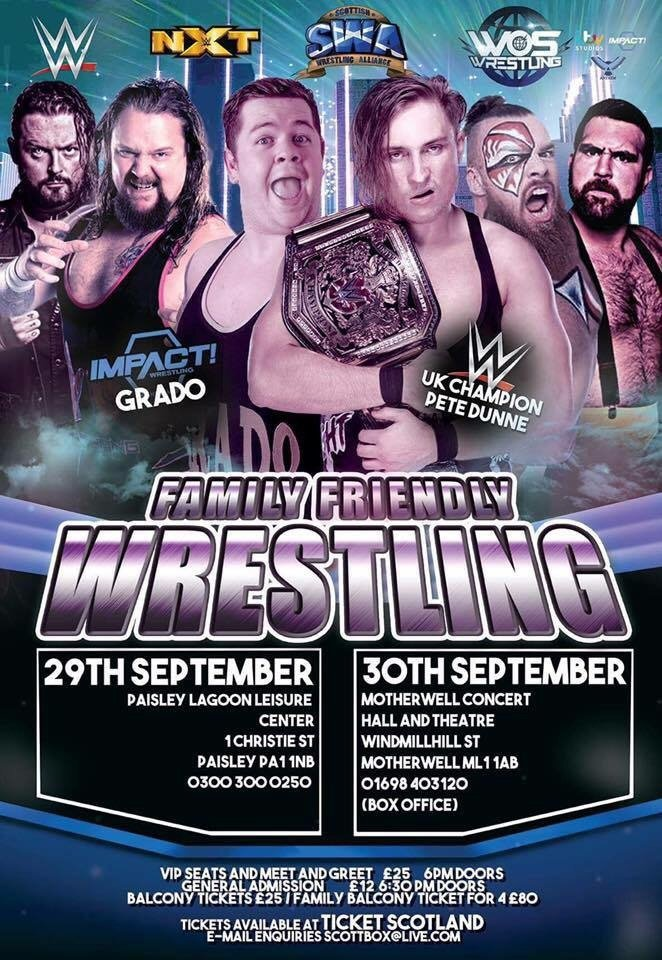 """#Announcement: SWA (@SWAONLINE) """"Live In Paisley"""" &amp; """"Live In Motherwell"""" *Cards Revealed*  https:// hashtagwrest.wordpress.com/2017/09/25/ann ouncement-swa-swaonline-live-in-paisley-live-in-motherwell-cards-revealed/ &nbsp; … <br>http://pic.twitter.com/w69TGa1O1o"""