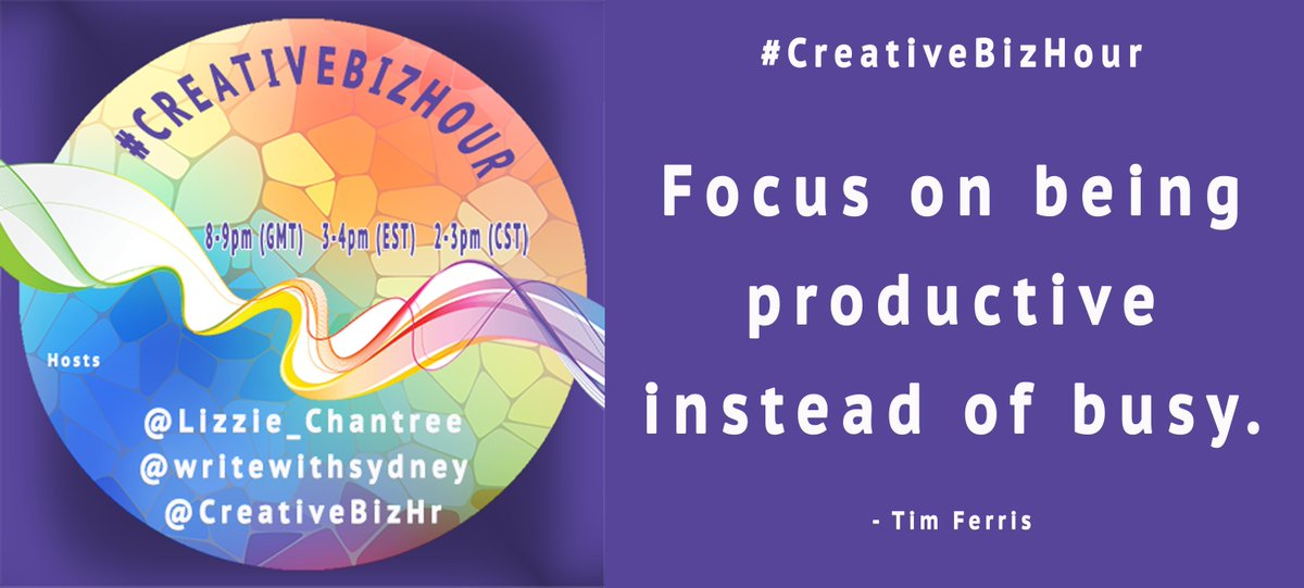 #CreativeBizHour  Focus on being productive instead of busy.  - Tim Ferris  #Business #Quotes #Quoteoftheday #Inspiringquotes<br>http://pic.twitter.com/fFXlSKq7Er