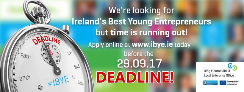 The closing date for @ibye_ie  Ireland&#39;s Best Young Entrepreneur is this Friday.... Visit  http://www. ibye.ie  &nbsp;   for more details #Startups <br>http://pic.twitter.com/VEsZondCYk