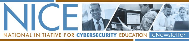 The quarterly #NISTNICE  #cybersecurity #education &amp; #workforce newsletter is out!  https:// content.govdelivery.com/accounts/USNIS T/bulletins/1b7ce3d &nbsp; … <br>http://pic.twitter.com/ctPjlSu18C