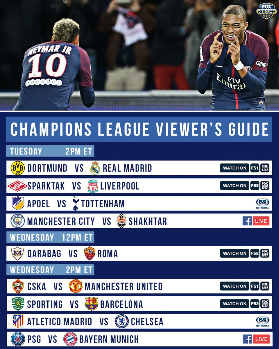One of the strongest Champions League matchdays in recent memory start...