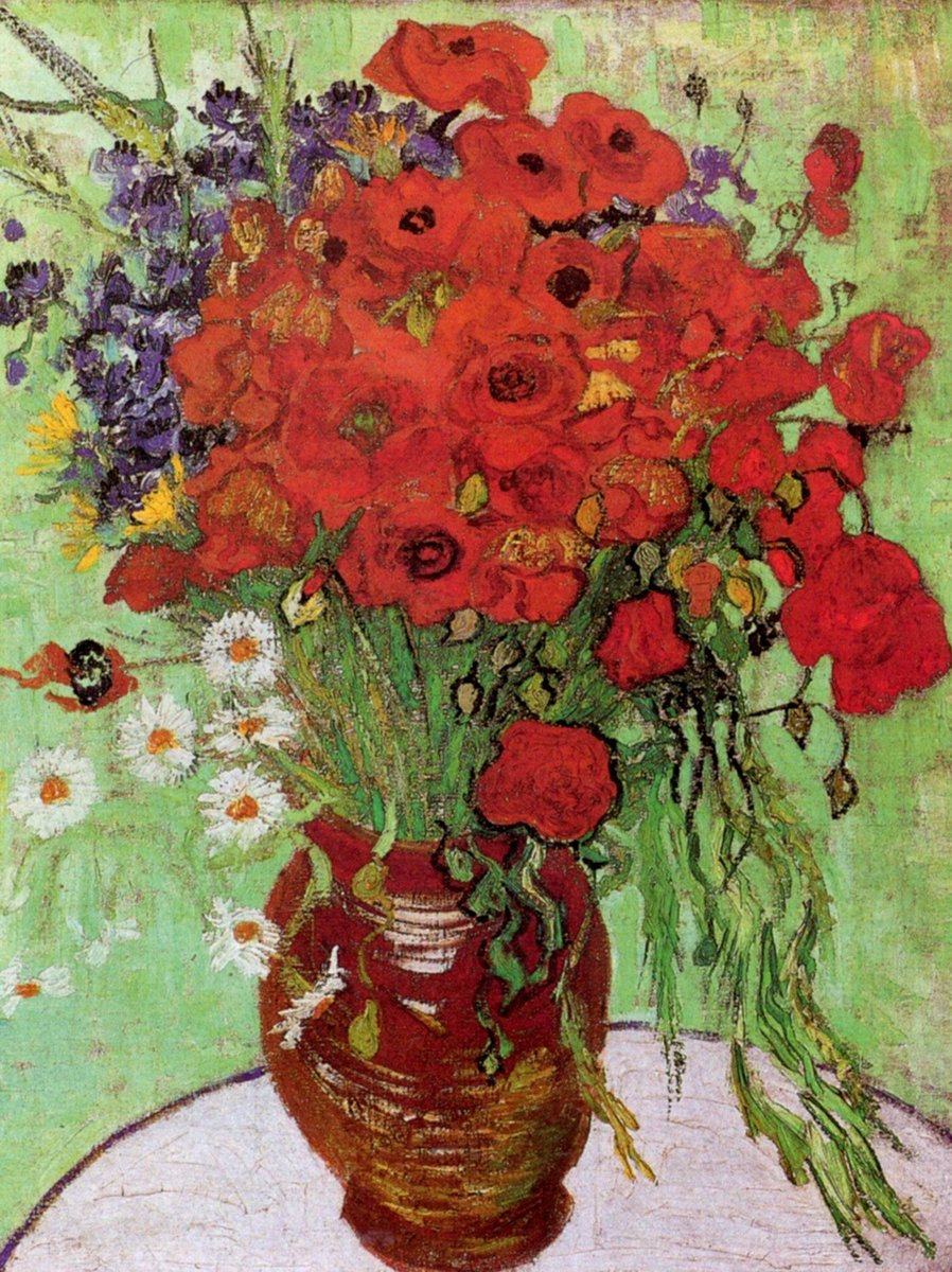 VAN GOGH, &quot;RED POPPIES AND DAISIES&quot; 1890 #vangogh #art #arttwit #twitart #iloveart #red #artlover<br>http://pic.twitter.com/RnMOCMZBpj