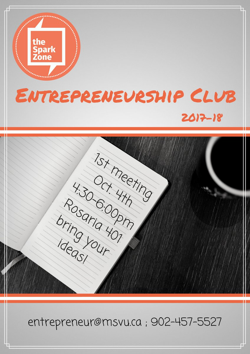 Interested in #Entrepreneurship? This is your chance to connect with like-minded #students &amp; build your skills! Bring your ideas  <br>http://pic.twitter.com/zzRY8FICvh