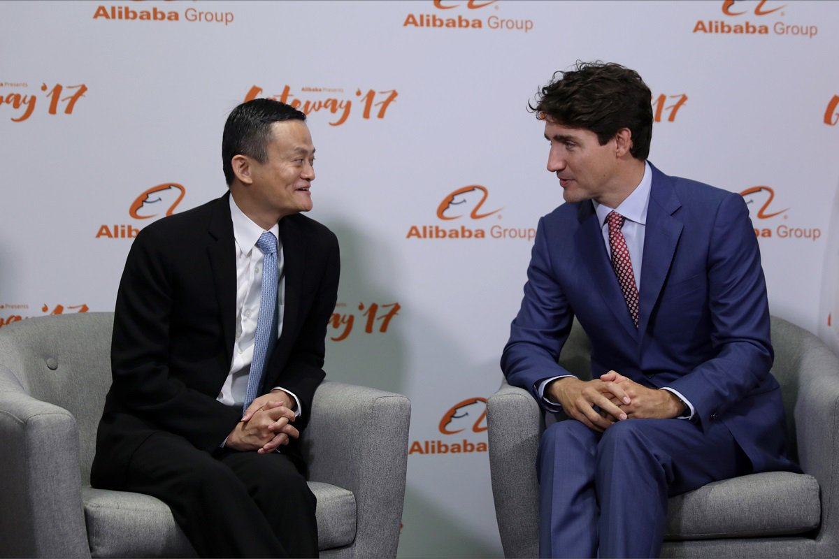 PM Justin Trudeau meets with @AlibabaGroup chairman Jack Ma at the #Ga...
