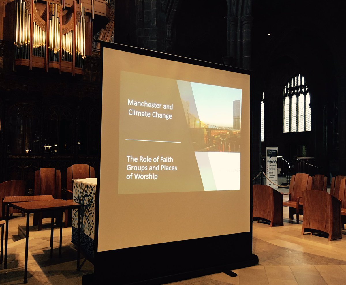 Busy crowd assembling ahead of tonight&#39;s #climatechange event @ManCathedral Our Faith, Our Planet, Our Community<br>http://pic.twitter.com/XuSimdmlz2