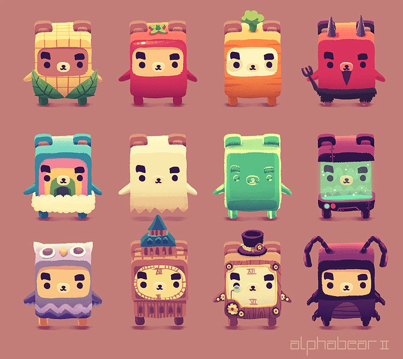"""Spry Fox on Twitter: """"Introducing the Brave bears of #Alphabear2 !! The  first of the five bear families & your go-to when literacy just isn't  enough. ..."""